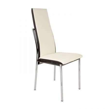 Καρέκλα Lisa Εκρού-Καφέ